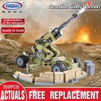 XINGBAO 06011 Genuine 350Pcs Military Series The Scorpion Cindy Cannon Set Building Blocks Bricks Educational Toys