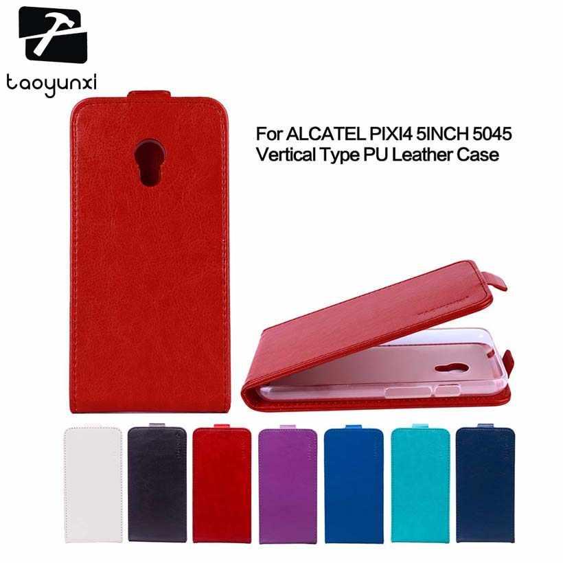 TAOYUNXI Flip Leather Case For Alcatel OneTouch Pixi 4 5045 5045X 5045D  5045D 5010D 5010X 010S 5010U 5010A Shine Lite 5080 Case