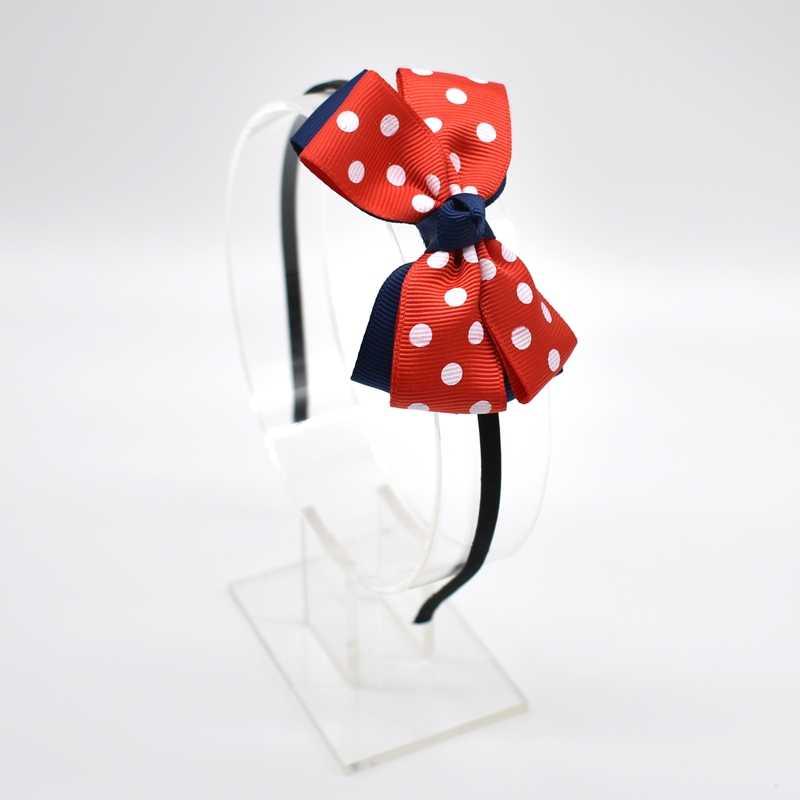1 pc คู่มือ Double - deck น่ารัก bows เด็กทารก hairbands เด็ก headbands เด็กอุปกรณ์เสริมผม