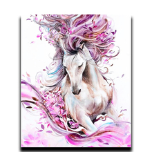 Crafts Diamond embroidery DIY painting square full of diamond mosaic Animals by numbers  Horse Paintings