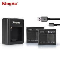 KingMa Xiaomi Yi Battery 2pcs 1010mAh And Xiao Yi Battery Double Dual Charger For Xiaomi Yi