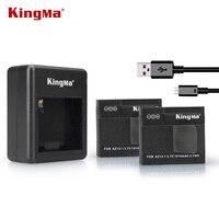 KingMa Xiaomi Yi Battery 2pcs 1010mAh And Xiao Yi Battery Double Dual Charger For Xiaomi Yi
