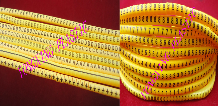где купить 900PCS/lot EC-3 6.0mm2 18 number and letter cable marker digital lletter number ABCDEF+-0123456789 each 50PCS yellow color по лучшей цене