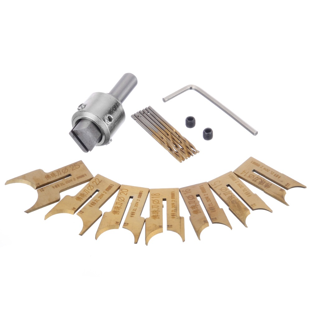 16pcs Carbide Ball Blade Woodworking Milling Cutter Molding Tool Beads Router Bit Set 14 25mm in Milling Cutter from Tools