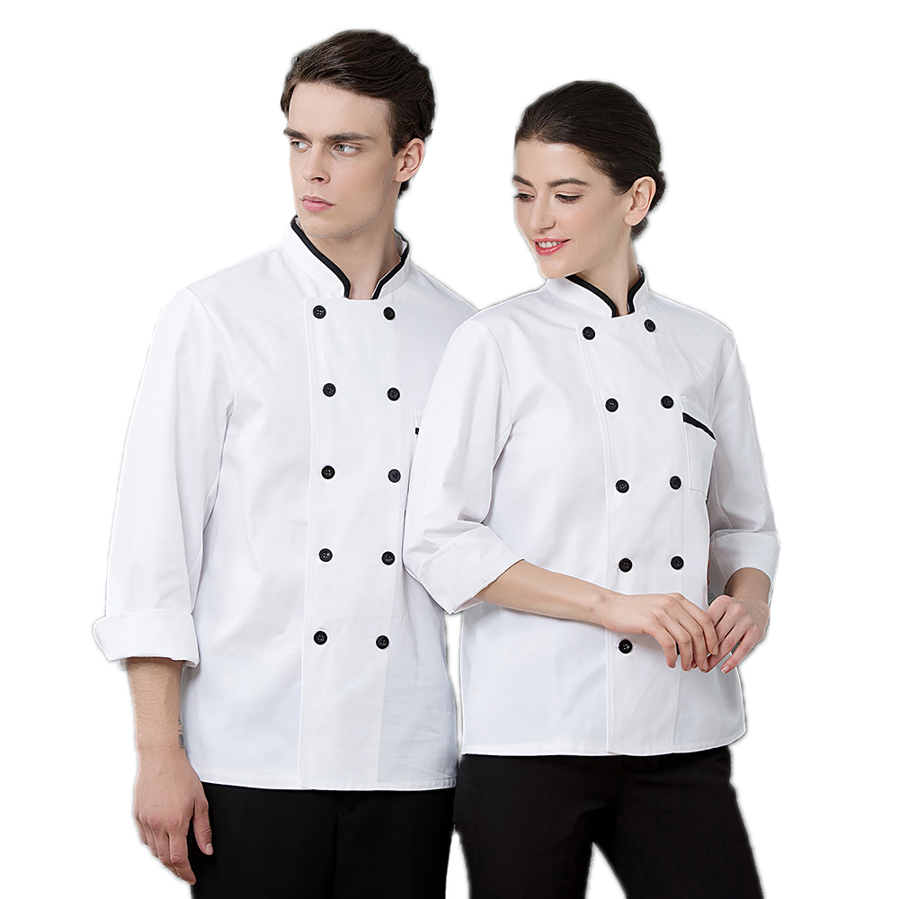 Newly High Quality Hotel Long-Sleeved Chef's Jacket Restaurant Accessories Uniform Bakery Kitchen Men Work Clothes Coat Overalls