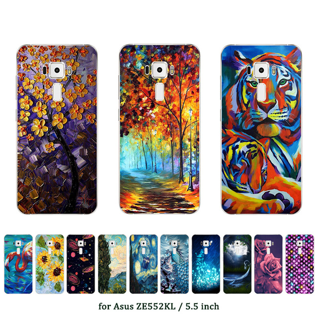 Soft TPU Silicon Case for Asus Zenfone 3 ZE552KL Back Cover Oill Printed Capa Shell for Asus Zenfone 3 ZE552KL Case