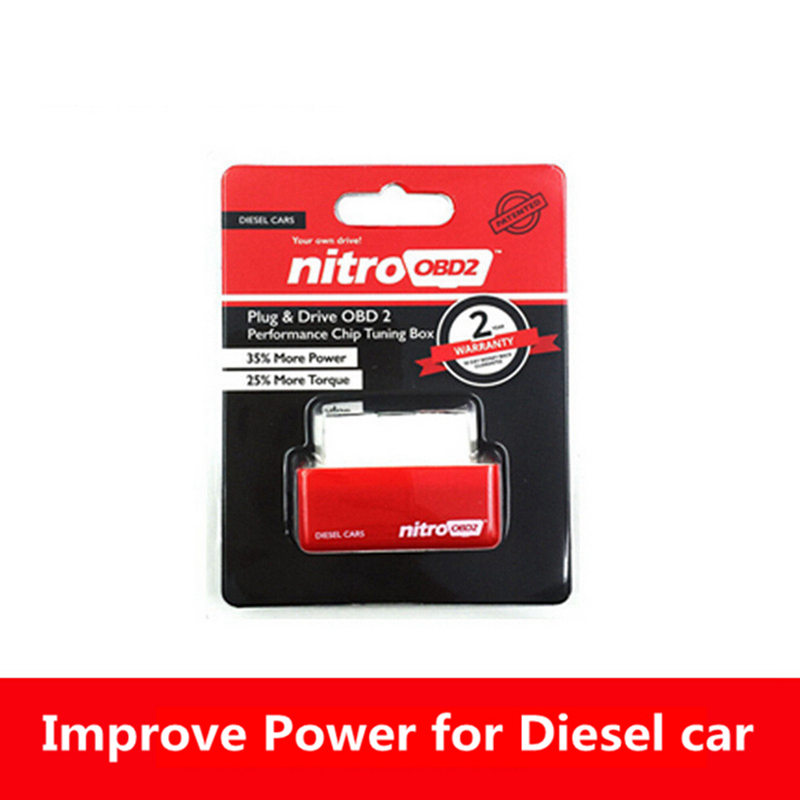 Hot Sales Nitroobd2 Nitro Obd2 Chip Tuning Box for Benzine Gasoline Cars Power & Torque Nitro OBD2 Plug and Drive Nitroobd New