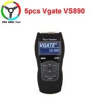 5pcs/lot Vgate VS890 Universal Diagnostic Scanner OBD2 SCAN Multi Cars VS 890 Full CAN BUS Multi Languages VS 890 Code Reader
