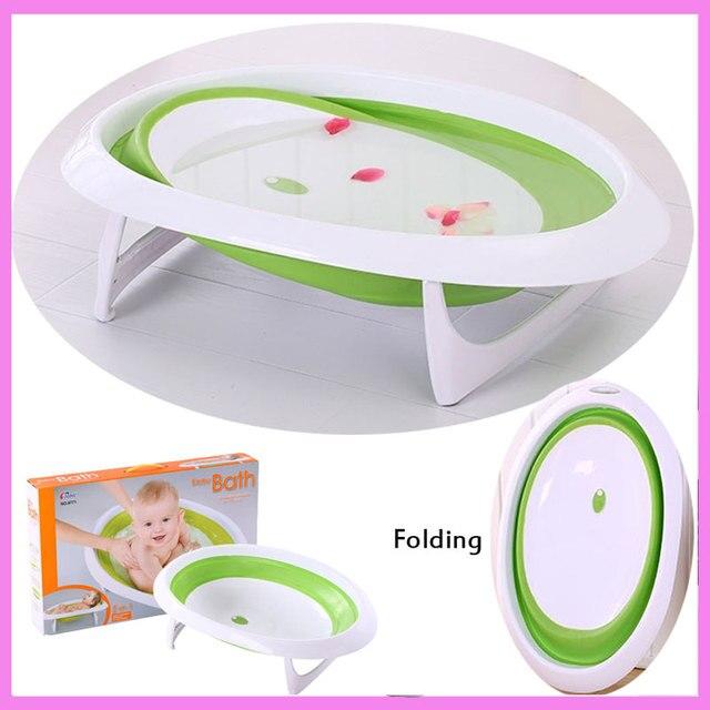 Baby Folding Bath Tub Basin Newborn Portable Sitting Lying Small ...
