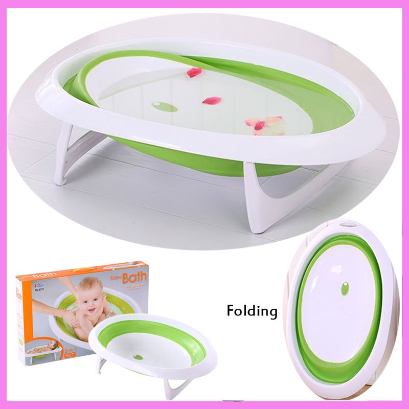 Baby Folding Bath Tub Basin Newborn Portable Sitting Lying Small Bath Bucket Baby Shower Bath Tub Baby Bath Security Seat ...