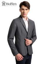 Hoffen 2017 Hot Sale Mens Suit Jacket Turn Down Collar Two Button Slim Fit Formal Blazer Jacket Male Bussines Suite MJ16S-1111