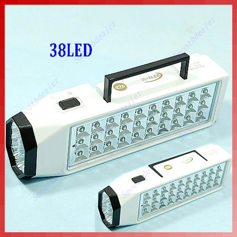 High Bright and Energy-Saving 38-LED Rechargeable Emergency Light Lamp High Capacity #20/18L