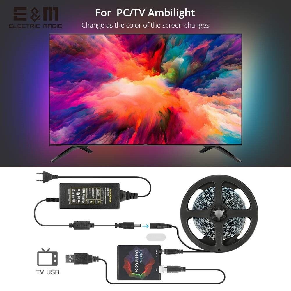 Customized LED RGB Dream Color Ambilight Ambibox PC Monitor Display TV Screen Synchronization Background Lamp