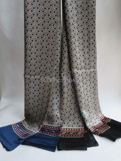 Элегантный / мода / мужчин 100% чистого шелка двусторонняя печать денег длинный шарф / синий черный серый