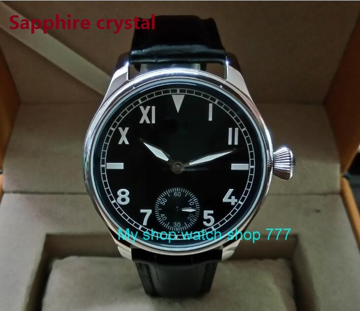 Sapphire crystal  44mm PARNIS 17 jewels 6497/3600 Mechanical Hand Wind movement mens watch Mechanical watches D248Sapphire crystal  44mm PARNIS 17 jewels 6497/3600 Mechanical Hand Wind movement mens watch Mechanical watches D248