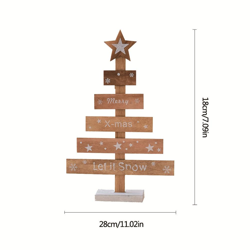 nordic ins wooden creative desktop small christmas tree mini ornaments wooden block christmas decorations dropshipping j3 in pendant drop ornaments from