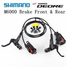 SHIMANO DEORE M6000 тормоз горные велосипеды гидраулик Дисковый Тормоз MTB BR BL-M6000 DEORE тормоз 900/1400/1500 левый и правый