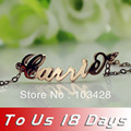 Freeshipping--Carrie Style Name Bracelet  Rose Gold Plated over Silver Anklet -Role Chain Personalized Name Jewelry