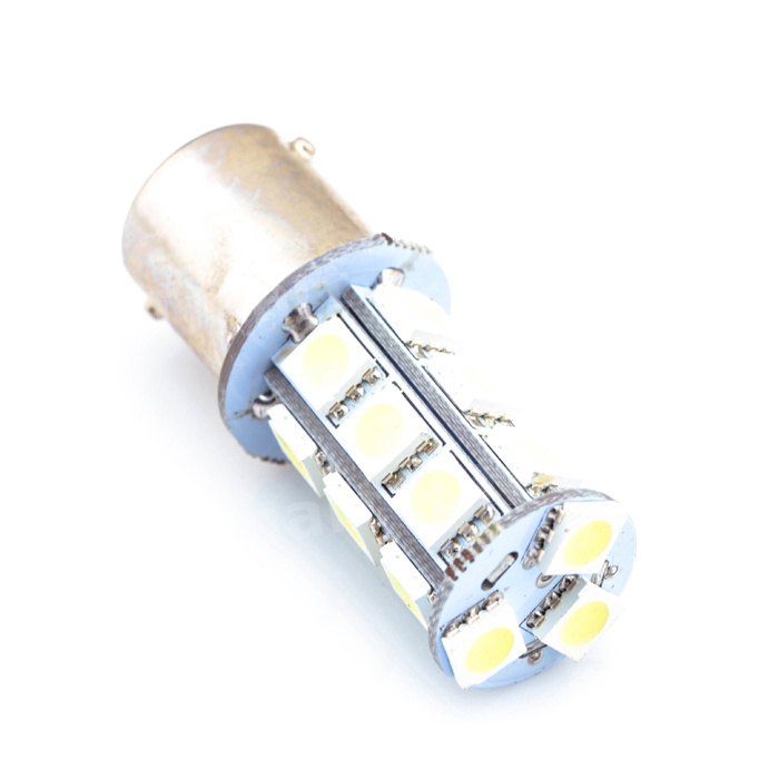 White 1156 P21W BA15S R10W 18 LED 5050 SMD Tail Brake Signal Side Light Bulb 12V задние поворотники gfg 10pcs lot 1156 18 smd 5630 ba15s 18smd