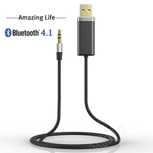Stereo Hifi Music Sound Blutooth USB 3.5 3.5mm Wireless Audio 4.1 Bluetooth Receiver Adapter RCA Receptor Car For Headphone Aux