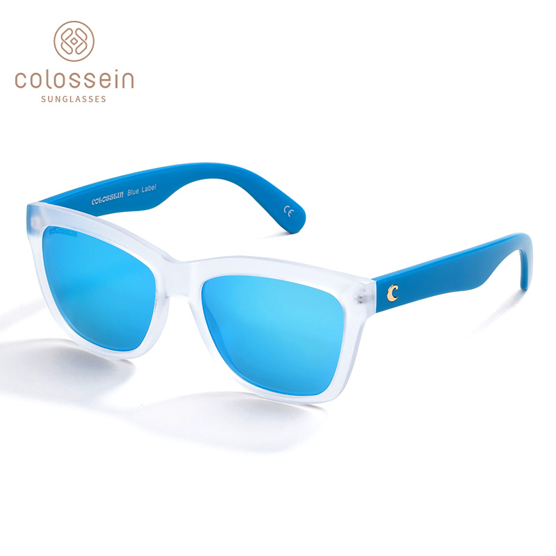 COLOSSEIN Solglasögon Women Square Frame Spegelfilm Beach Summer Solglasögon Män Nya Trendiga Vuxna Glasögon UV400 Outdoor