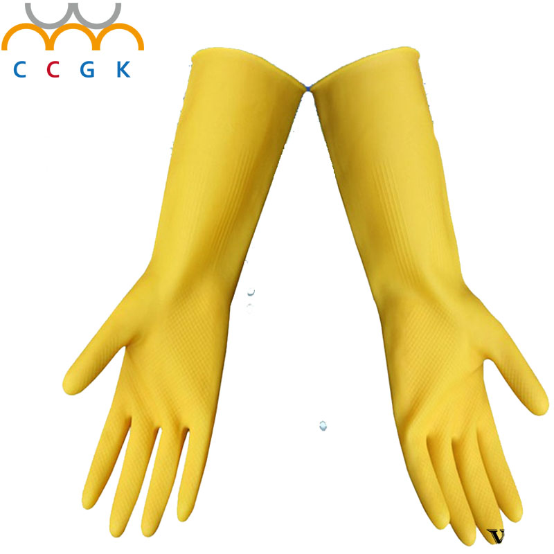 2017 NEW CCGK 10 pairs/lot Latex Gloves Waterproof Thick Rubber Gloves For Working Cleaning Anti-Acid & Alkali Anti-corrosion