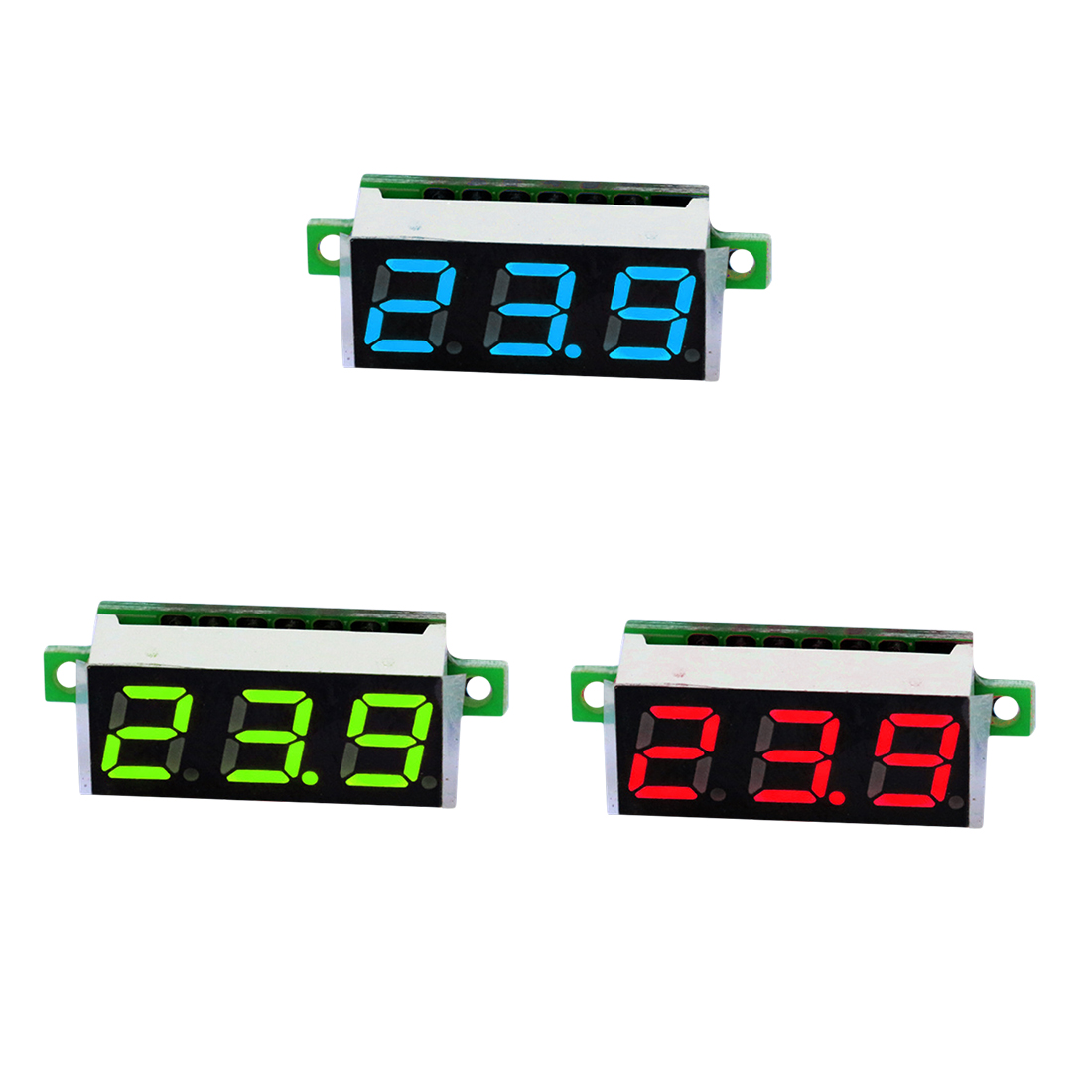 0.28 Inch 2.5V-30V Mini Digital Voltmeter Voltage Tester Meter LED Screen Electronic Parts Accessories Digital Voltmeter mini voltmeter tester digital voltage test battery dc 0 30v red blue green auto car
