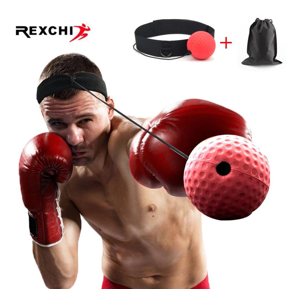 REXCHI Kick Boxing Reflex Ball Head Band Fighting Speed Training Punch Ball Muay Tai MMA Exercise Equipment Accessories
