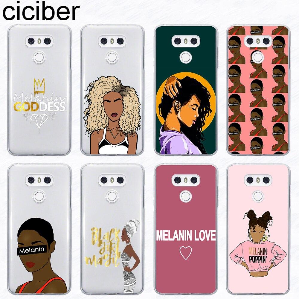 ciciber Melanin Poppin Phone Case For LG G6 G7 G5 G4 V20 V30 V35 V40 THINQ Soft TPU For LG K8 K7 K10 K4 K9 K11 2017 2018 Plus
