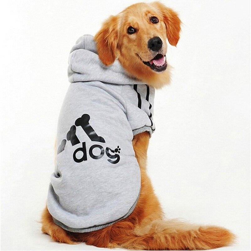 Clothes for Fleece Sweater Golden Retriever Husky Labrador Big Dog Clothes Winter Pet Hoodie Sportswear Clothing Supplies XS-5XL