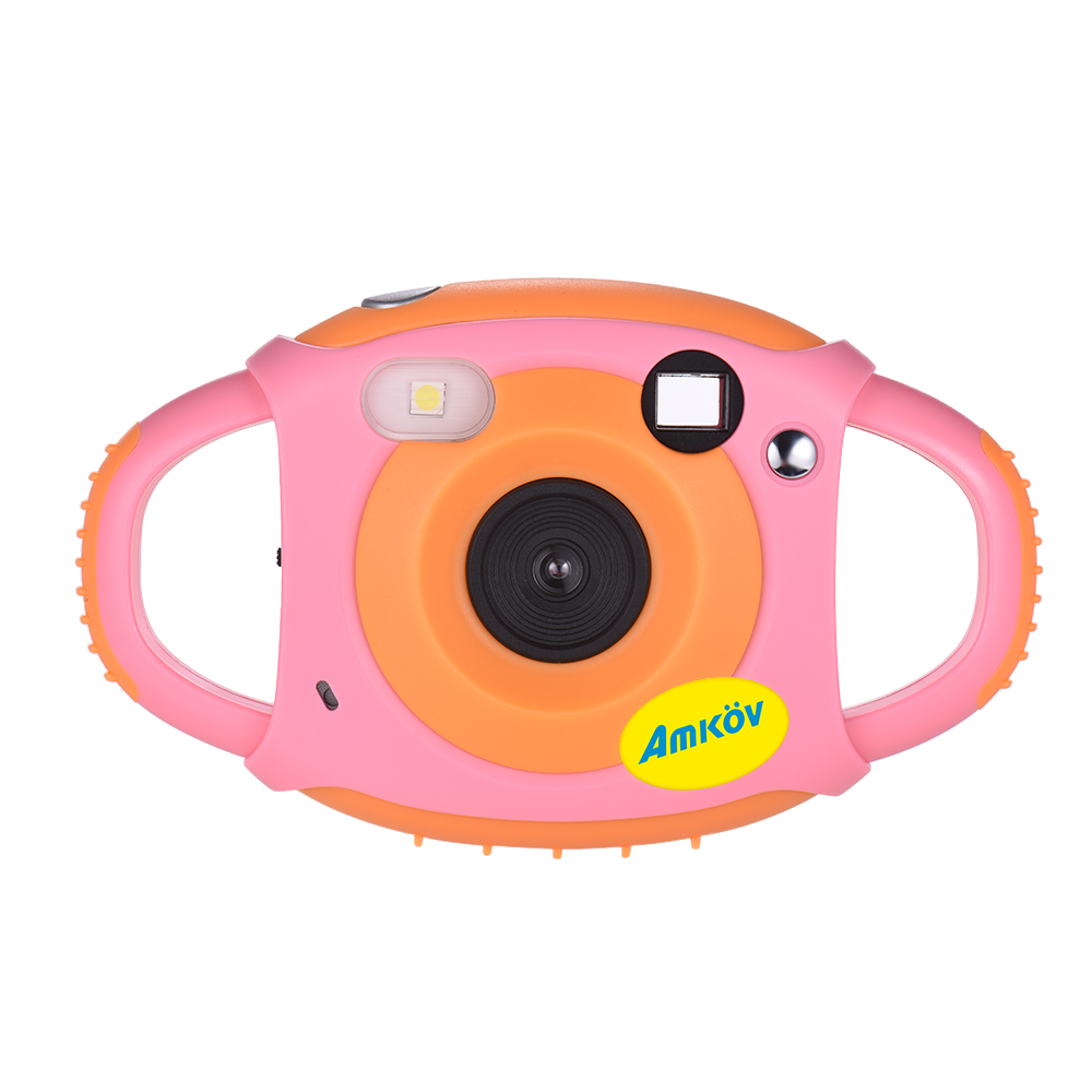 HTB138goKkSWBuNjSszdq6zeSpXai Amkov Cute Digital Video Camera Max. 5 Mega Pixels Built-in Lithium Battery Gift New Year Present for Kids Children Boys Girls
