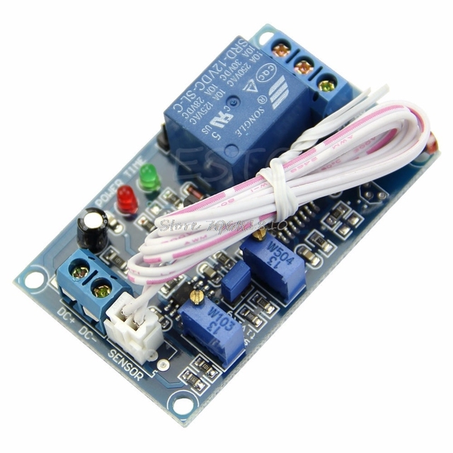 12V Photoresistor Relay Module Light Detect Sensor With Timer Car LED