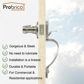 Probrico одноцилиндровый передний поручень с рычагом матовый Niclek Loskset бесключевая ручка для прохода дверные ручки, замок, набор оборудования >> probrico homebuilding Store