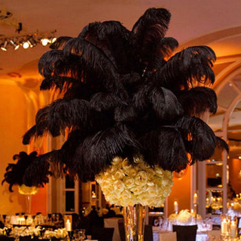 10 Pcs Ostrich Feathers Plume Centerpiece Wedding Party Table Decoration 30-35cm 2017ing  WXV Sale 1