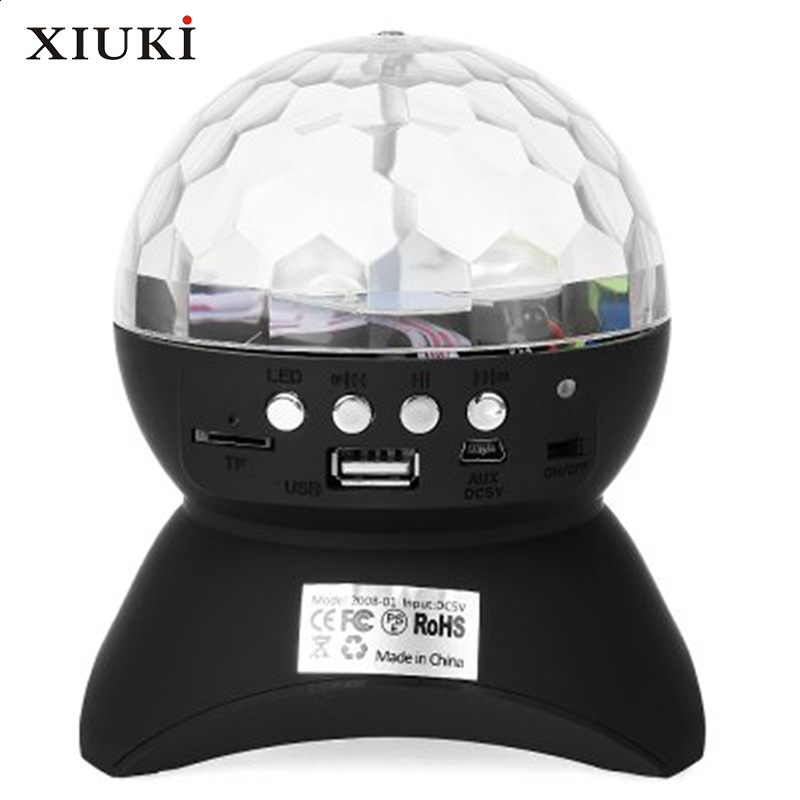 Anko Bluetooth Portable Speaker Crystal Look: LED Crystal Ball Party/ Disco DJ Bluetooth Speaker With Built In Light Show,RGB Color Changing