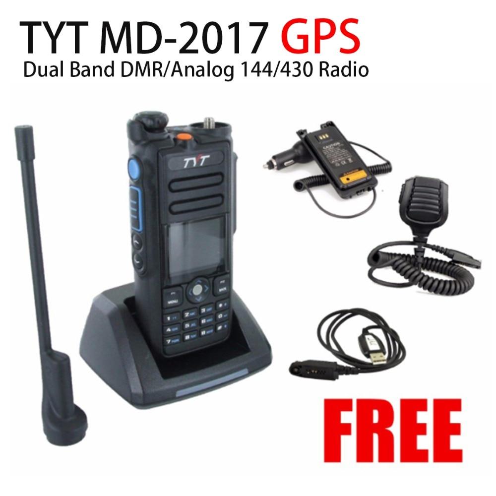TYT md-2017 GPS Dual Band DMR/аналоговый 144/430 Радио