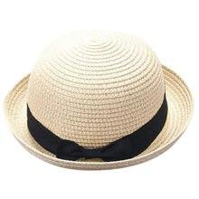 Verano sombreros para niño chica sombrero de paja gorras madre Me Bowknot  niños transpirable paja sombreros niños del casquillo . d3b46f190835