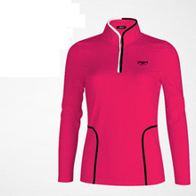 Camisetas Mujer Polo 2017 Spring New Golf Clothing Pgm Sports Collar Long Sleeve T-shirt Three-dimensional Cut To Show The Body