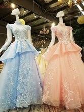 Розовые платья для выпускного с длинными рукавами синие серые