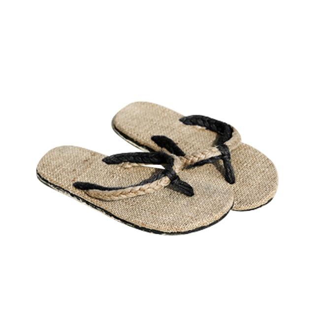 New 2019 Fashion Hemp Slippers Sandals Unisex Couples Sandals Slip Resistant Straw Flax Linen Home Slipper