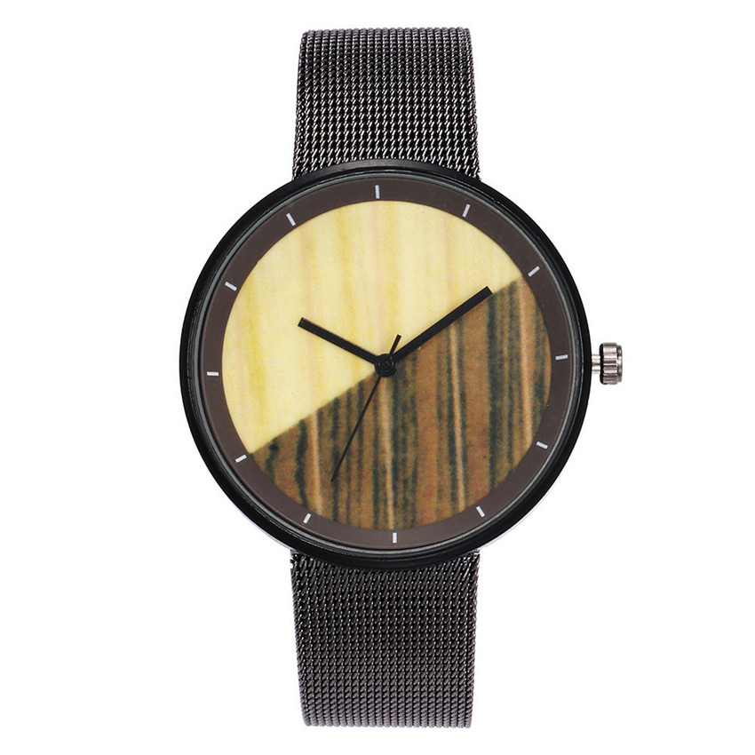 2018 Silmple Men Steel Watches Fashion Casual Quartz Stainless Steel Band Marble Strap Analog Wrist Watch  Horloges Mannen A80