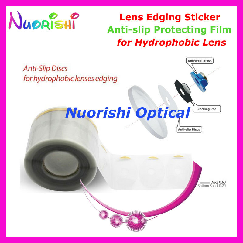 A23F Clear Plastic Anti-slip Protecting Film for Hydrophobic Lens Edging Polishing Sticker Discs Bocking Pads free shippig