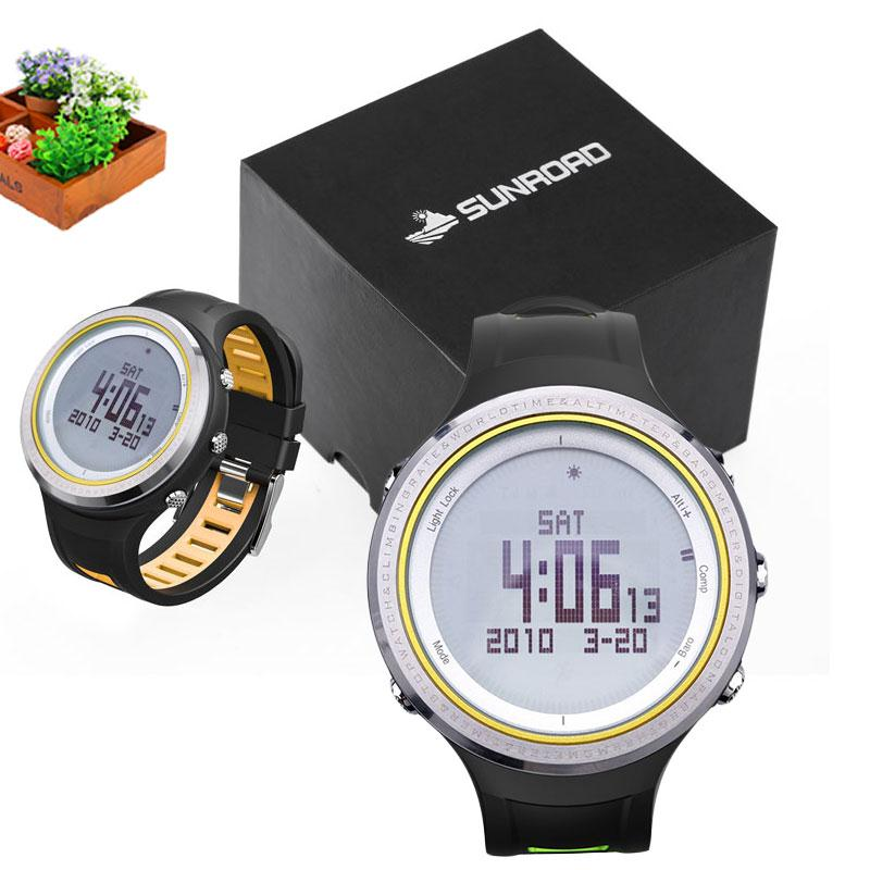 SUNROAD Sports Watches with Altimeter Barometer Compass Pedometer Thermometer FR800NA Waterproof Digital Sport Watch