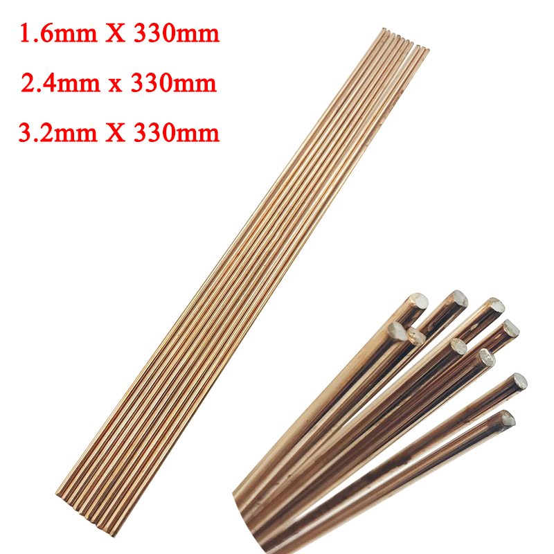 2.4mm /& 3.2mm Flux coated Brazing Rods General Purpose x 6