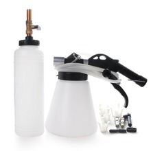 1L Pneumatic Brake Fluid Bleeder Brake Oil Replacement Bleeding Tool 75-120PSI w/ 4 Master Cylinder Adapters VBFL-8018W