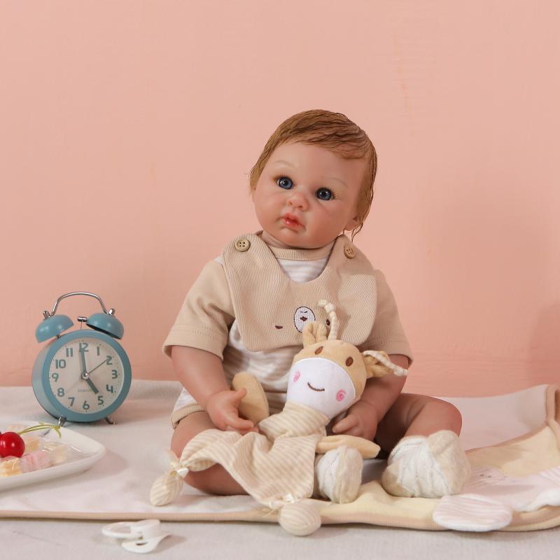 55cm nouveau corps souple Silicone Reborn bébé poupée jouets réaliste nouveau-né Boutique princesse reborn poupée anniversaire présent noël poupée cadeau