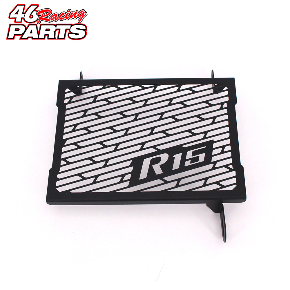 Black Motorcycle Accessories Radiator Guard Protector Grille Grill Cover For Yamaha R15 Tracer YZF-R15 2014 2015 2016 2017 motorcycle radiator grille grill guard cover protector golden for kawasaki zx6r 2009 2010 2011 2012 2013 2014 2015