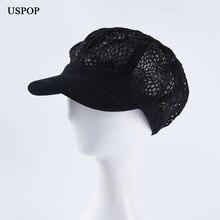 USPOP новые женские кепки newsboy женские Лоскутные кружевные кепки с козырьком дышащие Восьмиугольные шляпы