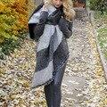 Женская Толстая Зима Теплая Шерсть Кашемир Украл Шарфы Шарф Платок Обертывания
