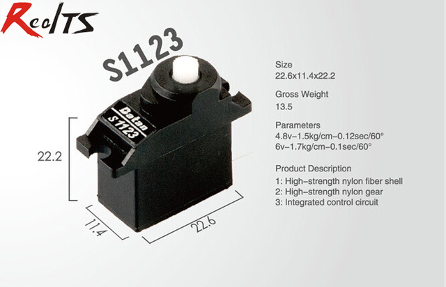 RealTS One piece Batan S1123 1.6kg analog servo for rc airplane-in ...
